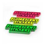 Fluorescent stickers