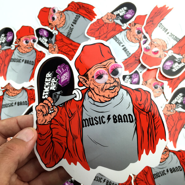 silk screen printed custom stickers