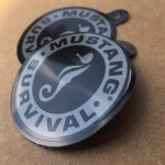 Mustang Survival Hangtag Custom Stickers