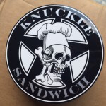 Guy Fieri knuckle sandwich custom stickers