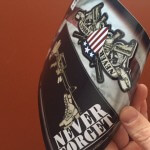 American Custom Stickers with hang tag design
