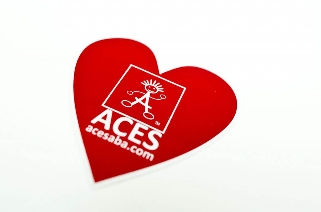 Custom heart shaped stickers