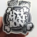 Brushed Alloy Crossbones Sticker