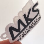 Die cut hang tag decals for clothing