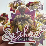 Satchmo custom die cut vinyl sticker