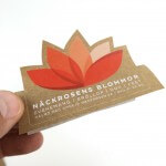 Kraft Paper flower stickers