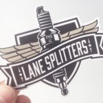 Lane Splitter Custom Die Cut Sticker