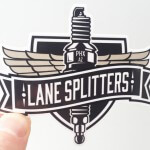 Lane Splitters vinyl sticker