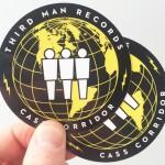 Third Man Records circular stickers