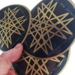 Metallic Gold Vinyl custom sticker