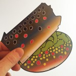 Custom die cut trout stickers