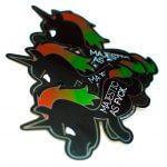 Mirror vinyl unicorn stickers