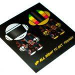 Brushed alloy sticker sheet