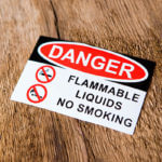 Danger flammable decals