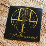 Brushed Gold Sticker for Adornment
