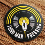 Glossy Vinyl Circle Stickers for Third Man Records