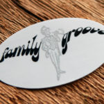 Brushed Alloy Vinyl Family Groove Sticker