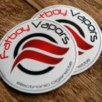 Fat Boy Vapors Glossy Stickers