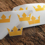 Transparent Glossy Crown Stickers