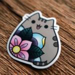 Glossy Coated Die Cut Cat Stickers