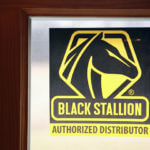 Window Cling Sticker for Black Stallion