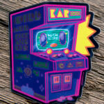 Glossy Coated Arcade Design Sticker