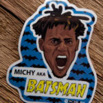 Glossy Die Cut Sticker for Batsman