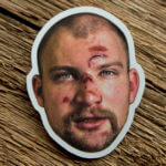 Glossy Coated Die Cut Face Sticker