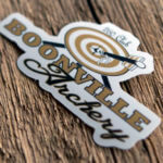 Glossy Coated Sticker for Boonville Archery