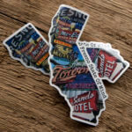 Glossy Coated Die Cut California Stickers