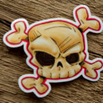 Glossy Coated Skull Stickers