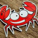 Glossy Coated Full Color Crab Design