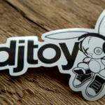 Glossy Coated Die Cut Sticker for DJToy