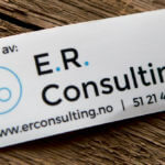 Glossy Coated Rectangle Stickers for E.R. Consulting