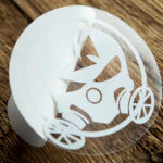 Transparent Circle Gas Mask Stickers