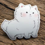 Glossy Die Cut Cute Dog Sticker