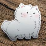 Glossy Die Cut Cute Dog Sticker