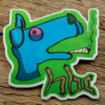 Glossy Coated HBC Dog Sticker
