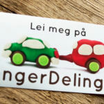 Glossy Coated Rectangular Sticker for Henger