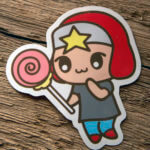 Glossy Coated Die Cut Anime Design Sticker