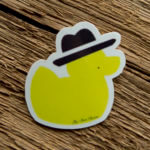Glossy Coated Full Color Duck Sticker