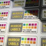Mirror Chrome labels