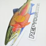 Rep Your Water Fishing Sticker