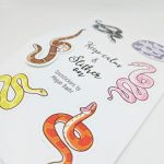 Slither On Kiss Cut Sticker Sheets