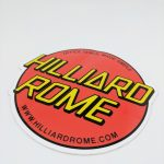 Glossy Die Cut Sticker for Hilliard Rome