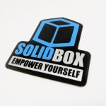 Full Color Die Cut Glossy Vinyl Stickers for Solid Box