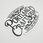 Die Cut Glossy Coated Sticker for Portland Craft Soda