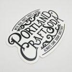 Die Cut Glossy Coated Sticker for Portland Craft Soda