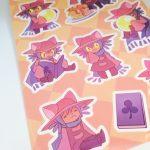 Kiss Cut Sticker Sheet for FanGamer
