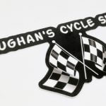 Die Cut Glossy Coated Vinyl Stickers for Vaughan's Cycle Shop